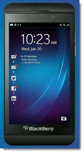 Das neue Blackberry Z10