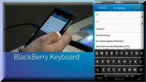 Die neue Blackberry Tastatur