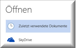 Office 2013 mit SkyDrive