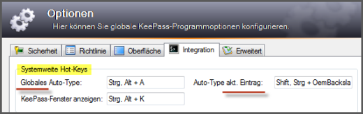 Keepass:AutoType mit Hot-Keys