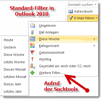 Der einfache Outlook-Filter