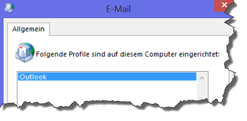 Das Outlook-Profil