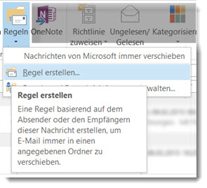 Outlook-Regel erstellen
