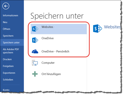 Office 2013: Speichern in der Cloud?