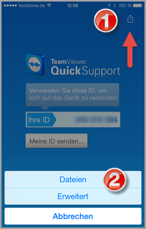 Quick-Support: Dateiübertragung