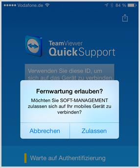 Quick-Support: Der Zugriff