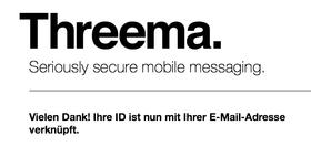 Threema: Bestätigung der E-Mail-Adresse