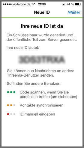 Die Threema-ID