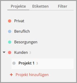 ToDoist-Projekte