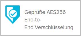 AES-256 Verschlüsselung End-to-End