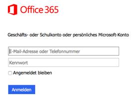 Die Authentifizierung über das Microsoft-Konto