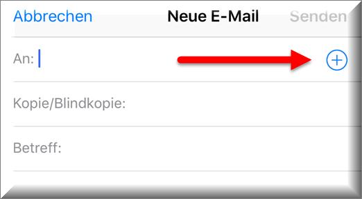 Die Kontaktauswahl am iPhone