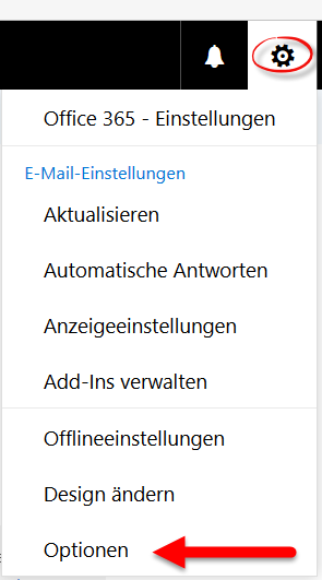 Outlook: Web-Optionen