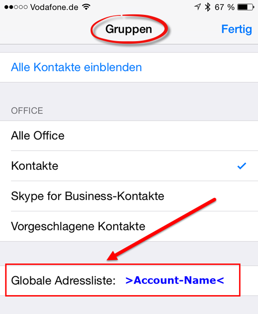 Gruppen am iPhone