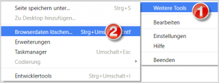 Chrome: Menü Browserdaten