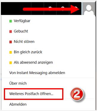 Office 365: Zusätzliches Postfach öffnen