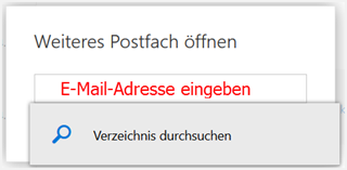 Postfach suchen in Office 365