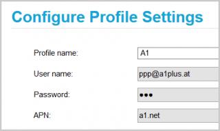 Das Provider-Profil