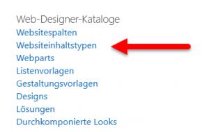 Websiteinhaltstypen