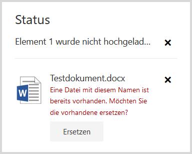 SharePoint: Datei ersetzen