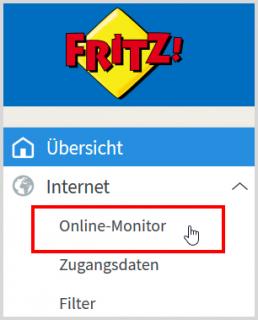 Das Menü der Fritzbox