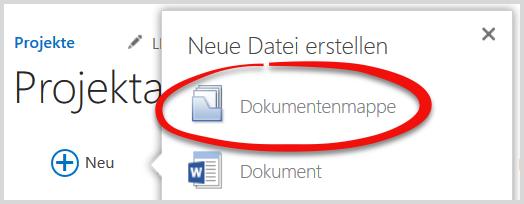Neue Dokumentenmappe erstellen