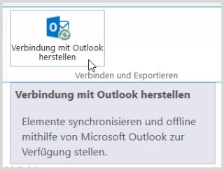 SharePoint: Outlook-Verbindung herstellen