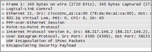 Details des Datenpakets
