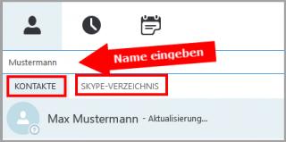 Kontakte in Skype suchen