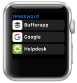 1Password auf der Apple Watch