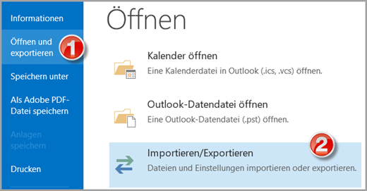 Outlook: Export