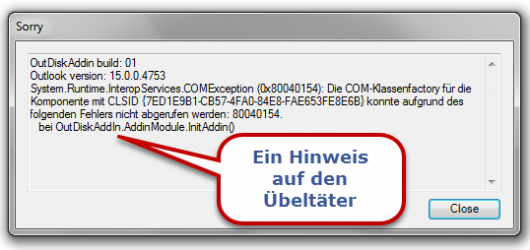 Outlook: Add-In-Fehler beim Starten