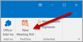 FindTime in der Outlook-Symbolleiste