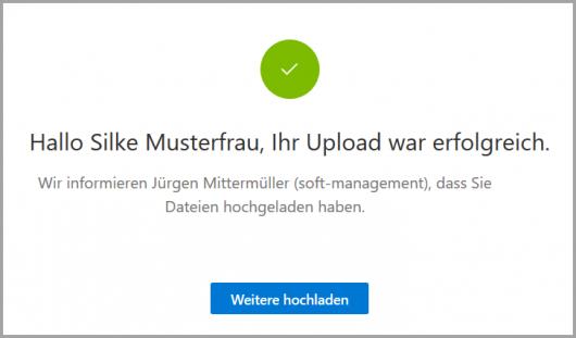 Upload beendet