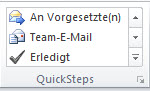 Outlook QuickSteps