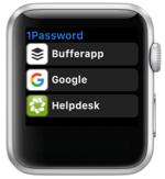 1Password auf der Apple Watch